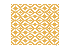 Abstract geometric pattern - bronze and white.