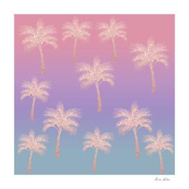 Colorful palm pattern