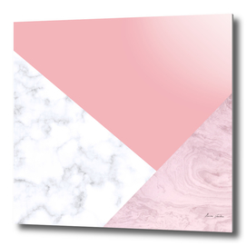 Pink and white marble look
