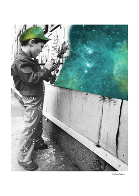 KID PAINTING THE UNIVERSE