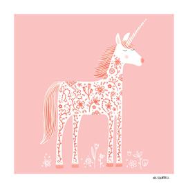 Fabulous Unicorn with Flowers
