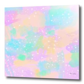 Colorful pastel brushstrokes