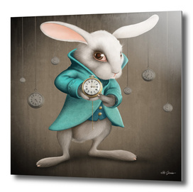 White Rabbit with Clocks
