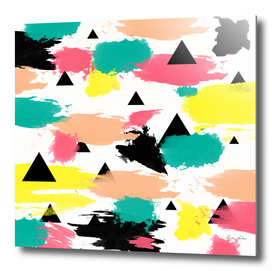Triangles and brushstrokes