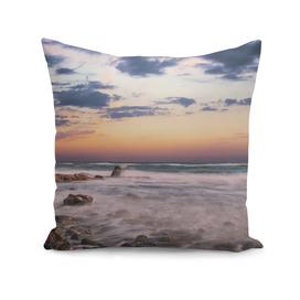 Sunset long eposure sea shore