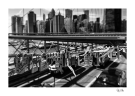 Love Lock on Brooklyn Bridge