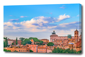Aerial View Rome Cityscape
