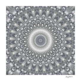 Silver, Bronze, and Ivory Mandala