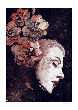 Obey Me: Blood (graffiti flower lady portrait)