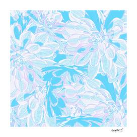 Fresh Blue Flowers Pattern