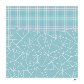 Ab Outline Grid Sky Blue