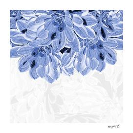 Elegant Blue Flowers Design