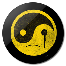 sad yin yang  smiley