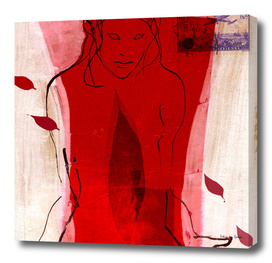 woman in the red
