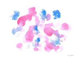180515 Abstract Watercolour Pink Blue 12