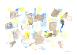 180515 Abstract Watercolour Brown Blue 18