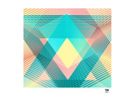 Geometric linear triangles pattern blue