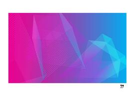 Geometric illusion gradient linear pink