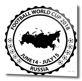 Football World Cup 2018 stamp