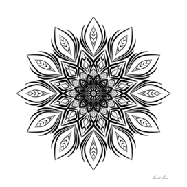 Flower Mandala, Vintage decorative elements,