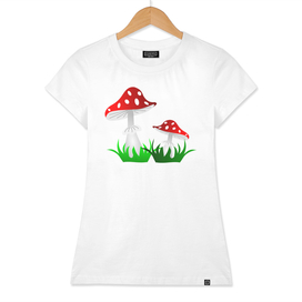 Toadstool red  pattern