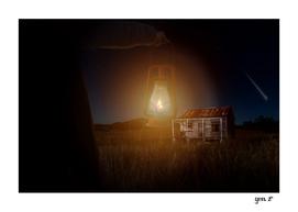 The hut in the meadow by GEN Z