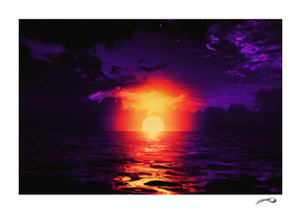 Fire purple cloud by #Bizzartino