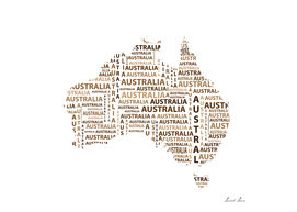 Map of continent Australia - illustration