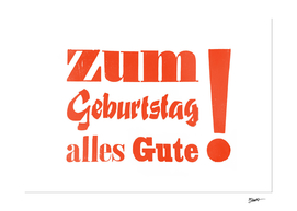 Happy Birthday – Zum Geburtstag alles Gute orange