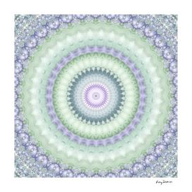 Heirloom Mandala in Green and Purple