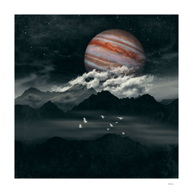 Jupiter above mountains V