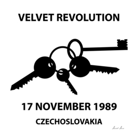 Clinking keys - velvet revolution symbol