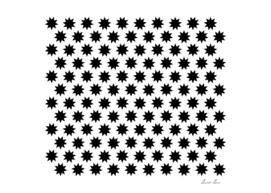 Black nine pointed star