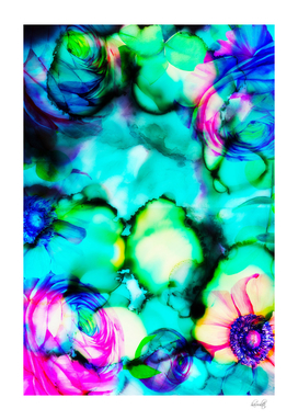 abstract ink flowers c