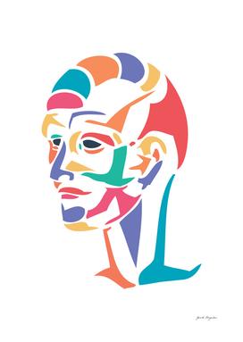 Abstract colour head