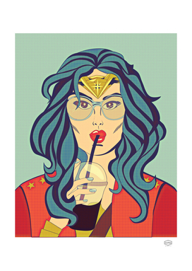 Superhero Coffee Break (retro)