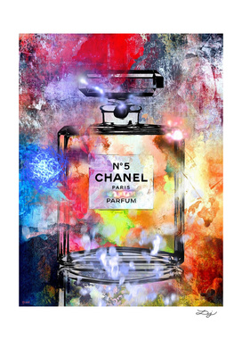 Chanel No 5 Painted