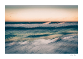 .blurred sea.