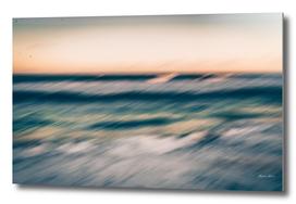 .blurred sea.