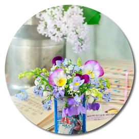Bouquet of spring flowers.