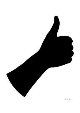 Hand - thumb up - illustration