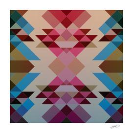 Abstract geometric V