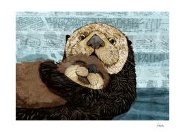 sea otter family