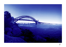Sydney Harbour Bridge Blue