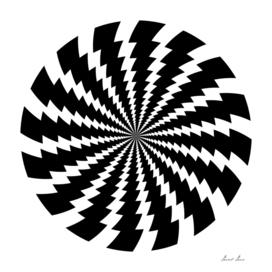 Lightning bolt - abstract geometric pattern