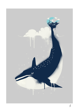 Blue Whale n Surfer
