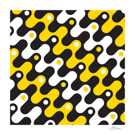 Yellow & black waves