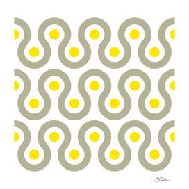 Gray & Yellow Wave Pattern