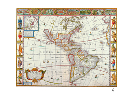 Map Of The Americas 1626