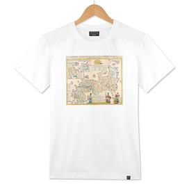 Imperial Japan Latin Map